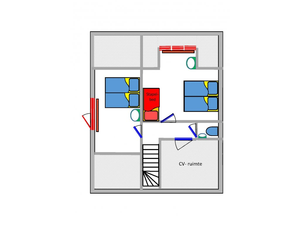 Indeling 1ste verdieping